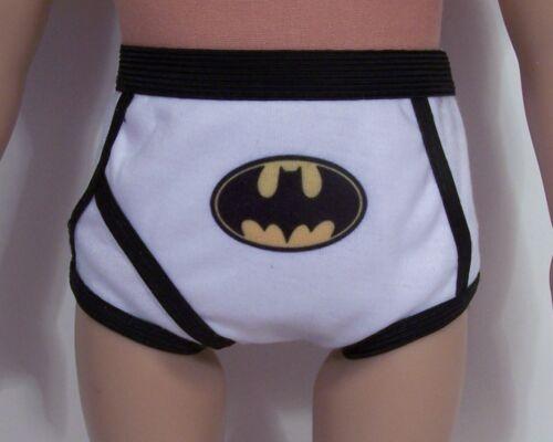 "3 Underwear Superman Motorcycle Batman Doll Clothes For AG 18/"" Boy Logan Debs"