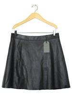 Allsaints Womens Black Leather Skirt Size 14