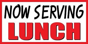 4'x8' NOW SERVING LUNCH FOOD FAIR Promotion Sign Banner | eBay
