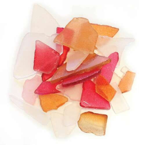 Gathered Sea Glass 12.5oz Red /& Brown 700254535005