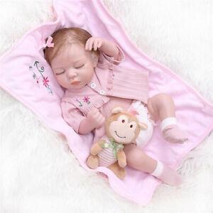 Handmade Cute Reborn Baby Doll Full Body Silicone Girl Doll Lifelike Soft Touch