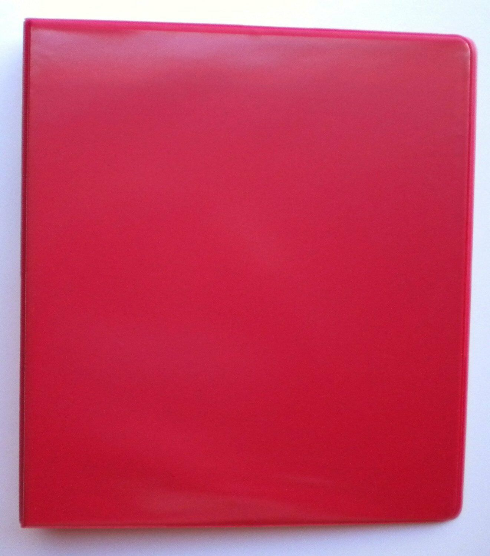 RED 3 RING 1  VIEW BINDER 8.5 X 11 - BOX OF 12
