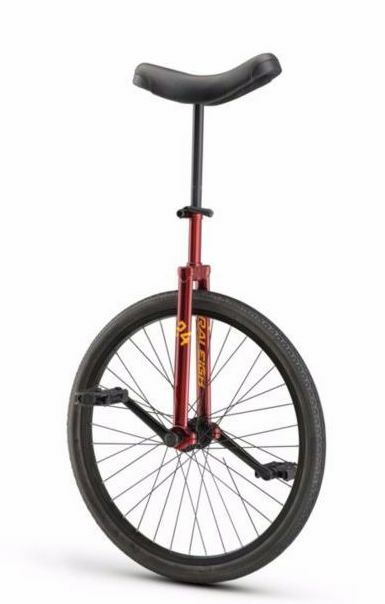 UNICYCLE Raleigh Unistar 24  Maroon RED  24