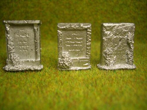 3 pc Memorial Gravestones Thomarillion Unpainted Pewter D/&D Dwarven Forge