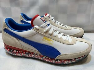 Details about PUMA Easy Rider Men's Shoes Size 11.5 White Blue Red 36783204  NEW