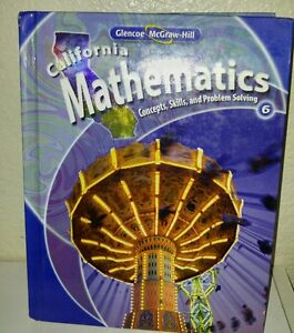 Glencoe Mcgraw Hill 6th Grade 6 Ca Mathematics Selected Answers