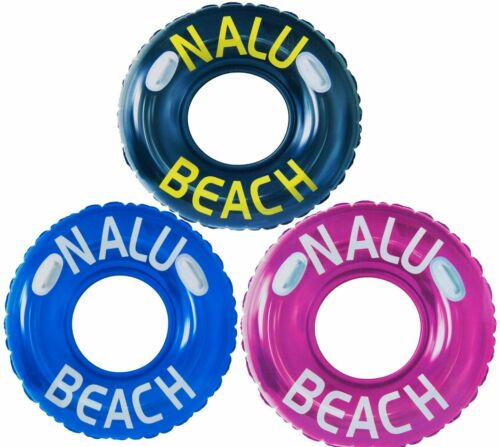"""47/"""" Inflatable Turbo Tyre Swim Swimming Ring Rubber Tube Lilo Pool Float"""