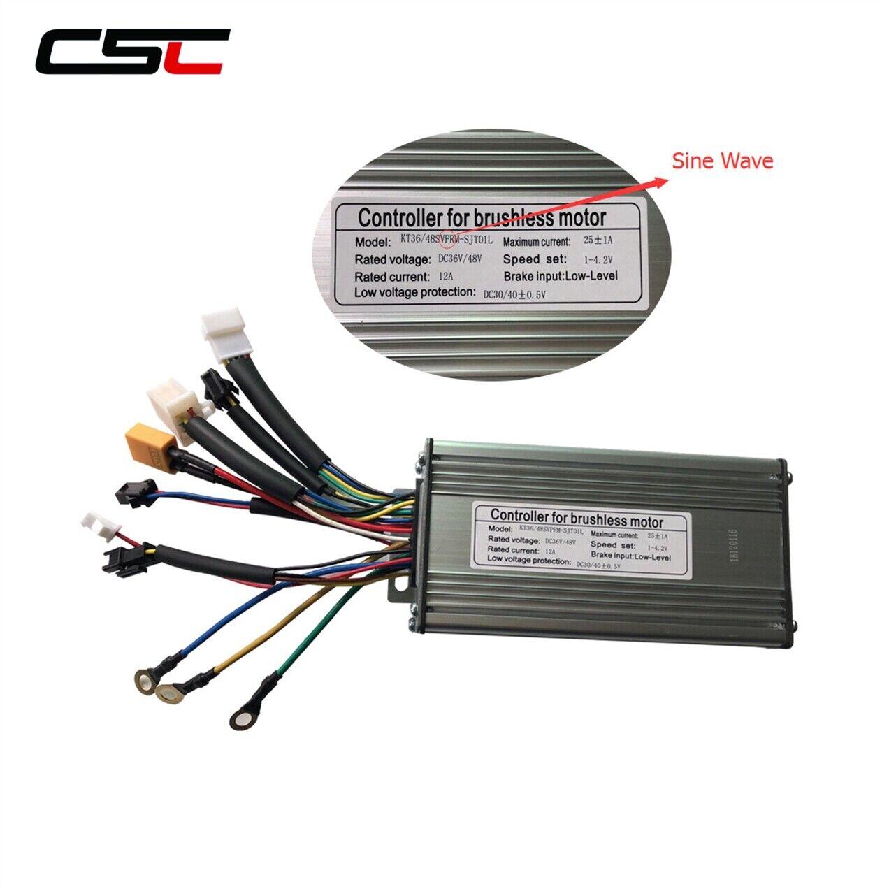 Ebike Brushless Controller 36V 48v 500W 9 Mosfet KT Sine Wave Controller