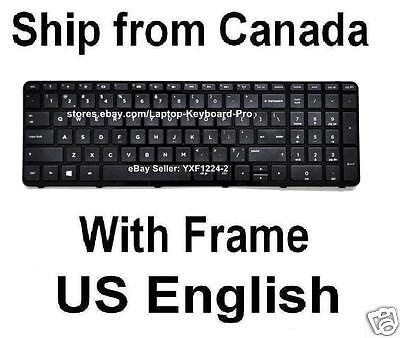 New US keyboard for HP Pavilion 17-E147CA 17-E147CL 17-E147NR 17-E148CA W// Frame