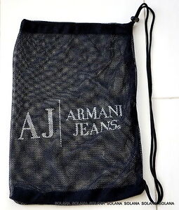 2916fe3989a0 AJ ARMANI JEANS Dark Blue Travel Dust Mesh Bag for Wedge Pump ...