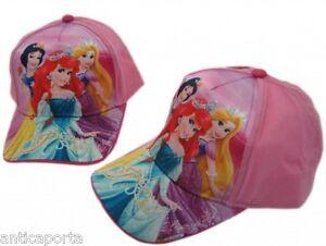 Berretto-Cappello-a-Visiera-Principesse-Disney-Originale-100