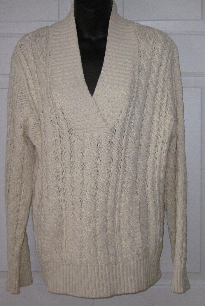 Lauren Jeans Company  Ralph Lauren Ivory Sweater L Sharp