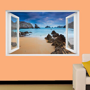 Dettagli su PAESAGGIO ROCCE Spiaggia Mare Adesivi Murali 3D Arte Murale  Poster ufficio negozio Decor TX4- mostra il titolo originale