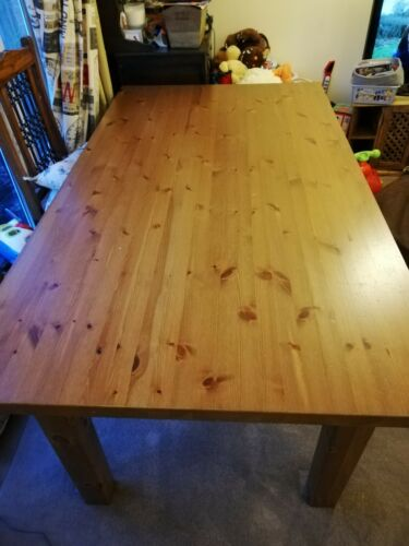 IKEA FORSBY 6 8 Solid Pine table with 6