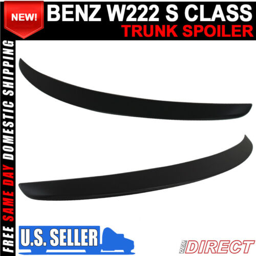 14-18 Benz W222 S Class OE Style Unpainted ABS Rear Trunk Spoiler Wing