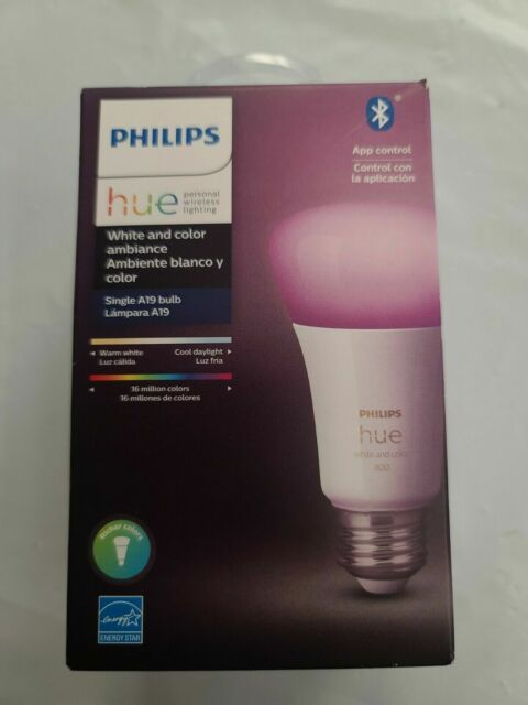 Philips Hue White and Color Ambience A19 2000 - 6500 K Warm to cool 1 pack bulbs