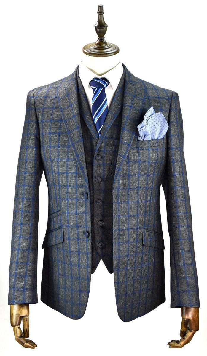 Herren Cavani Tweed Blazer Waistcoat Trousers Sold Separately 3 Piece Suit