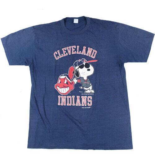 Vintage Cleveland Indians Snoopy T-shirt MLB Baseb