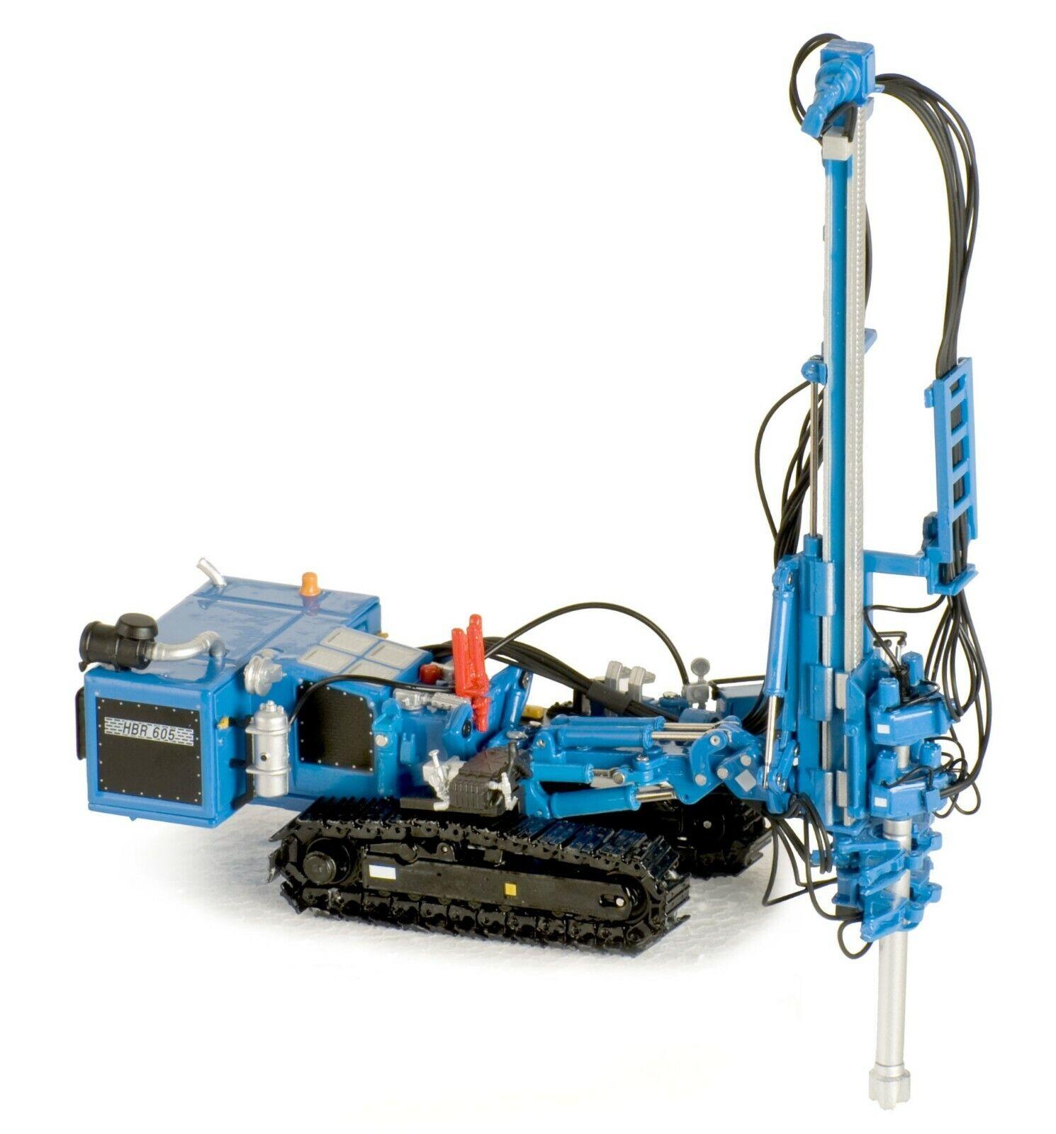 rivenditori online Nuovo ROS 210-4B Hutte HBR 605 Hydraulic Drilling Rig Rig Rig - blu 1 50 Die-cast MIB  le migliori marche vendono a buon mercato