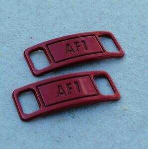 Détails sur Boucle de lacets Nike Air Force 1 rouge red bijou de chaussures décoration