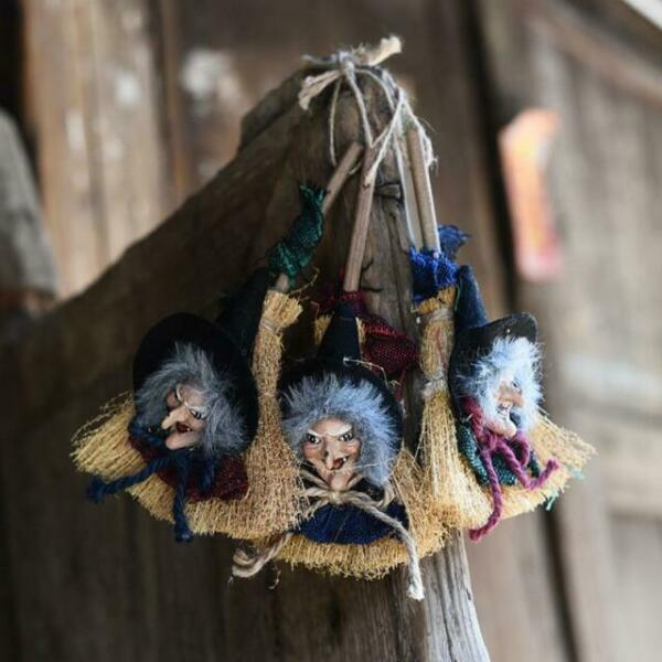 Hanging Witch Ornaments Halloween Decorations Haunted