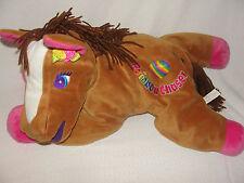 """Lisa Frank Plush Rainbow Chaser Horse 22"""" Jumbo Big Pony 1998"""