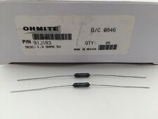 (3 pcs) 91J1R3 Ohmite, 1.5 Watt 1.3 Ohm 5%, Wirewound (Vitreous Enamel) Resistor