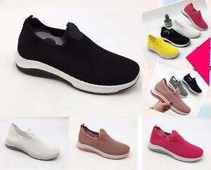 Womens Ladies Soft Comfy Sneakers