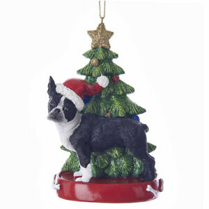 Boston-Terrier-Albero-di-Natale-Ornamento