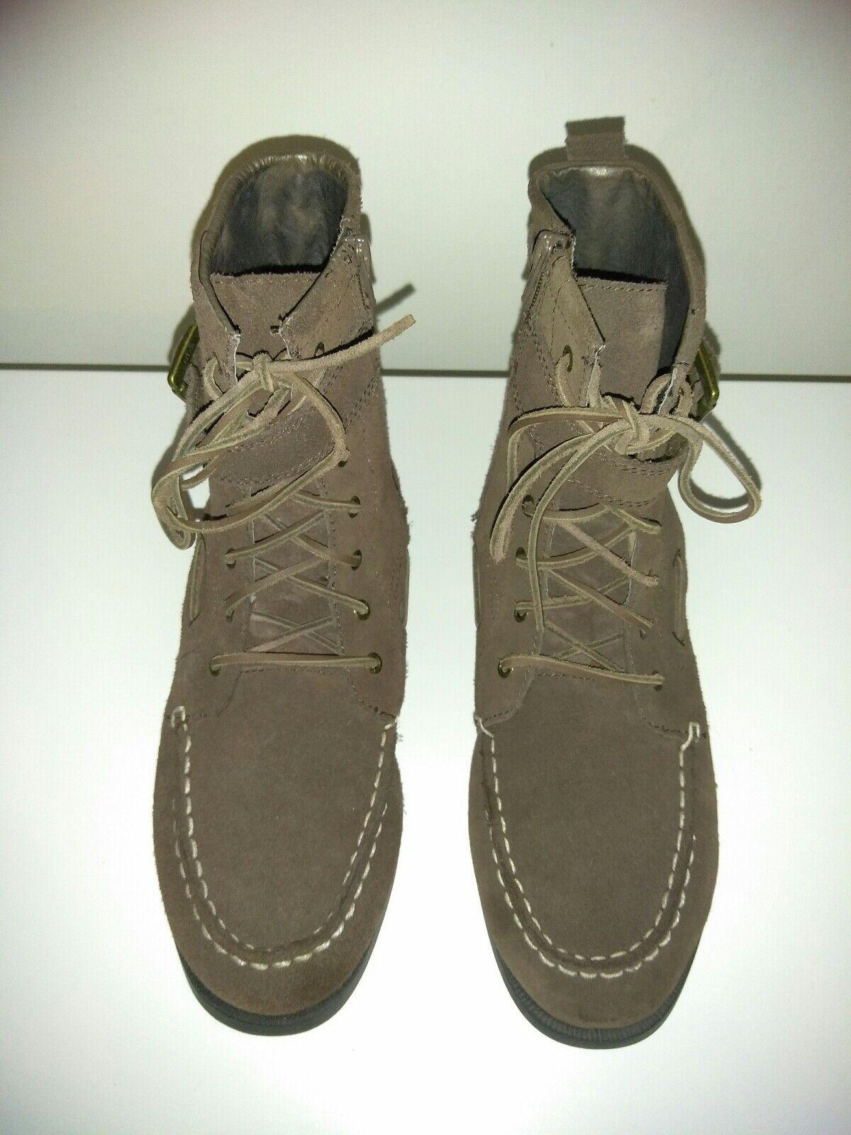 Women's Sperry Top-Sider U.S. Size 7M Brown Suede Starpoint Boots