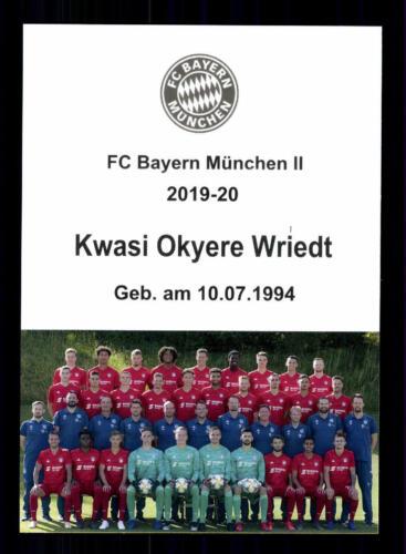 Kwasi Okyere Wriedt Autogrammkarte Bayern München II 2019-20