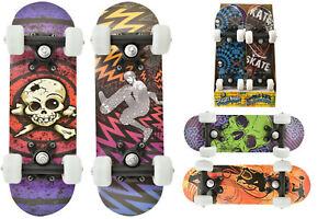 Bambini-45cm-Double-Kick-Skateboard-Praticare-Tavola-Scelta-Design-TY4024