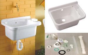 Lavatoio in resina a parete con sifone lavabo lavandino pilozza ...