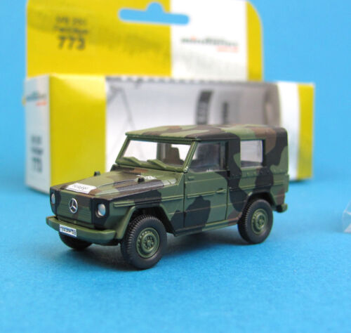Minitanks H0 773 MB WOLF FELDJÄGER getarnt Bundeswehr Geländewagen HO 1:87 Roco