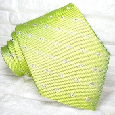 Utile Cravatta Classica Verde Larga Seta Made In Italy Matrimonio / Business Rp€ 38 Abbiamo Vinto L'Elogio Dai Clienti