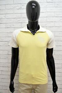 Polo-DIESEL-Uomo-Taglia-Size-M-Maglia-Maglietta-Camicia-Shirt-Man-Cotone-Giallo