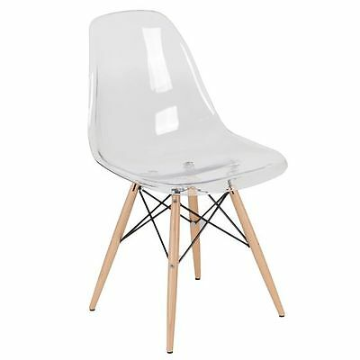 Replica Eames Eiffel DSW Clear Dining Chair