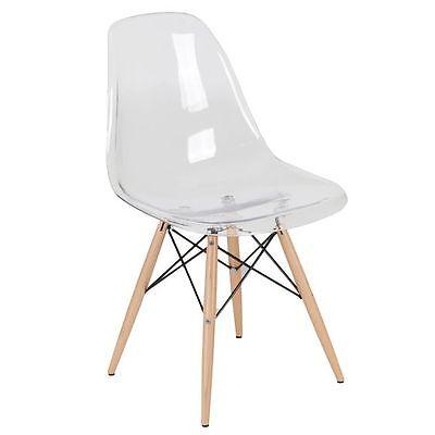 Replica Eames Eiffel DSW Clear Dining Chair