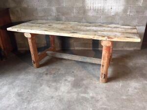 Tavolo Rustico Da Taverna In Legno Di Larice Ebay