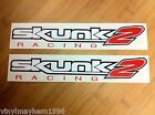 Two large Skunk2 Racing vinyl stickers decals intake exhaust ECU coilovers cams