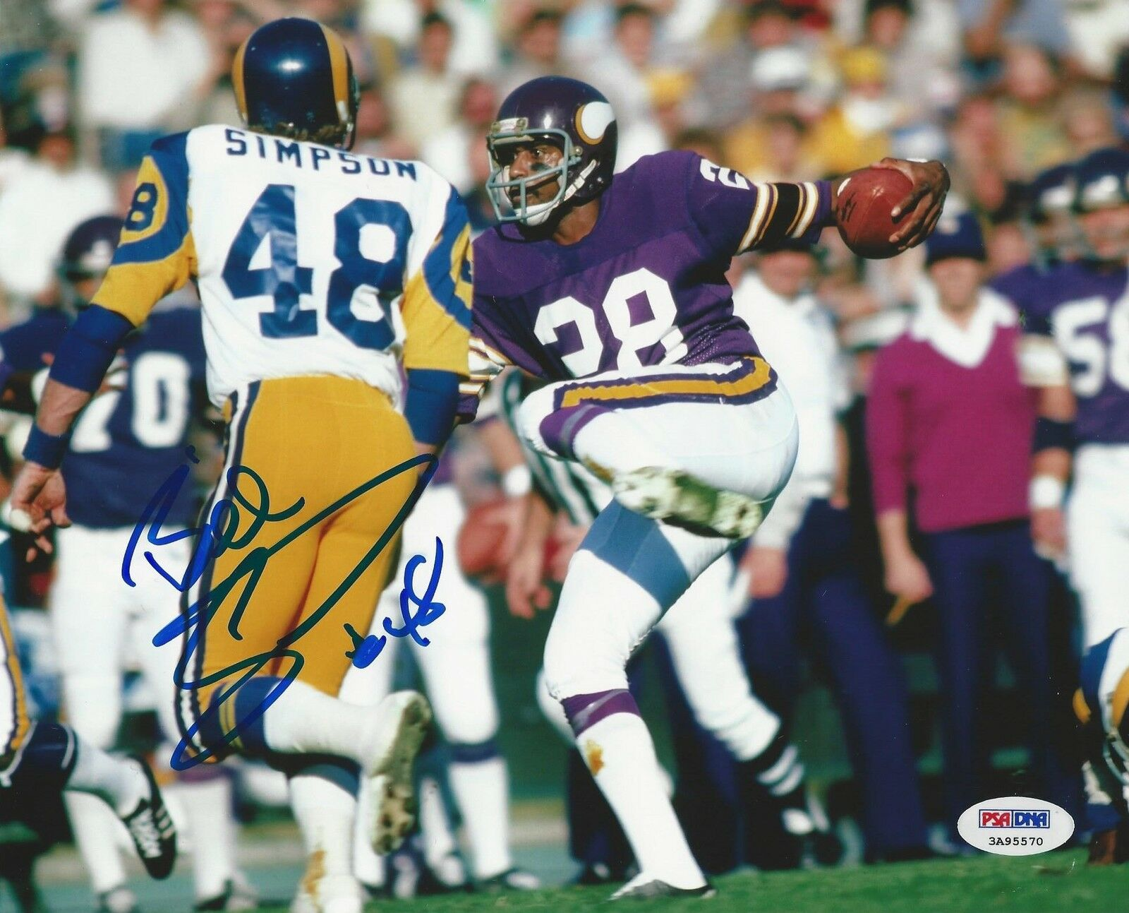 Los Angeles Rams Bill Simpson signed 8x10 Photo PSA/DNA # 3A95570