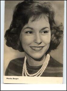 Starfoto-Portraet-Fernsehen-Cinema-Film-Schauspielerin-1961-MONIKA-BERGEN-Foto-AK