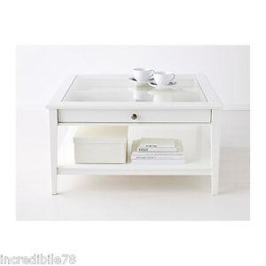 Tavolo Con Ripiano In Vetro.Ikea Liatorp Tavolino Con Doppio Ripiano E Cassetto Bianco Vetro