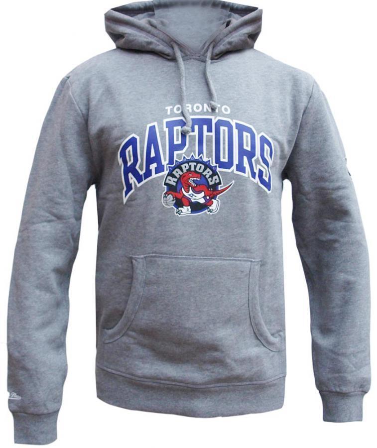 Mitchell & Ness TGoldnto Raptors Raptors Raptors HWC Arch Logo Hoody grau Hoodie Sweater Mens bc6d00