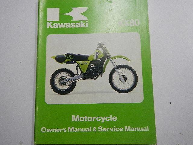1981 Kawasaki Kx80 Owners Repair Service Manual 81 Kx 80