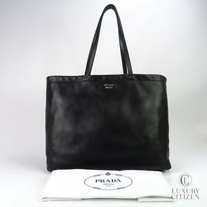f452ce4f0ce3 Image is loading AUTHENTIC-PRADA-EAST-WEST-REVERSIBLE-SOLF-CALFSKIN-LEATHER-