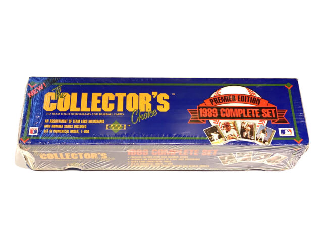 The Collector Choice Premier Edition 1989 Complete Set Upper Deck Baseball Cards