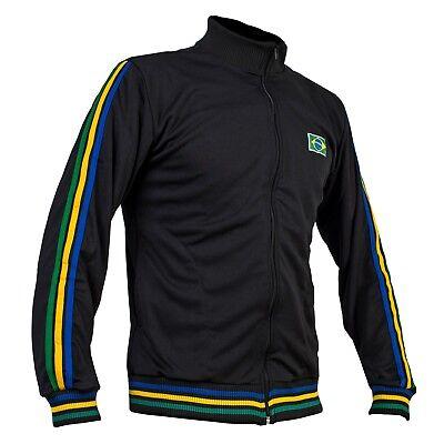 Yellow Capoeira Zipped Jacket Brasil Tracksuit Jumper Man Top Long Sleeve Sizes