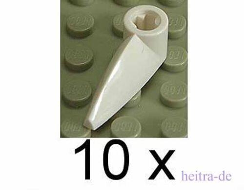 x346 NEUWARE Zähne 1x3 weiss mit Achsloch 10 x Zahn White Tooth LEGO