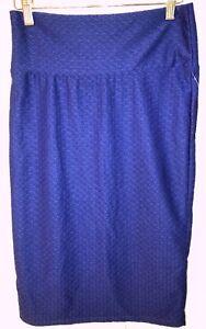 NWT-Lularoe-Cassie-Skirt-Size-S-Royal-Blue